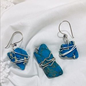 Jewelry - Imperial jasper pendant/earrings